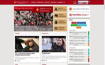 El Arzobispado de Barcelona renueva su web para potenciar la imagen de Iglesia