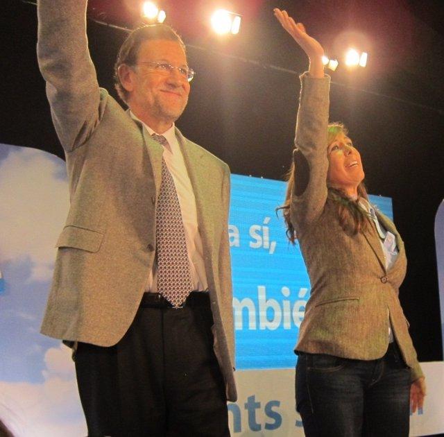 Mariano Rajoy y Alicia Sánchez-Camacho