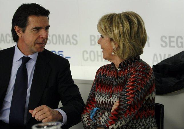 Esperanza Aguirre en el comite del PP