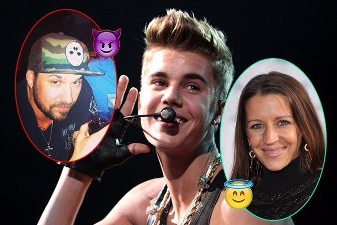 Los padres de Justin Bieber: entre el bien y el mal