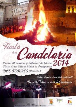 Cartel de la Fiesta de la Candelaria de Dos Torres