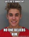 Memes de Justin Bieber detenido