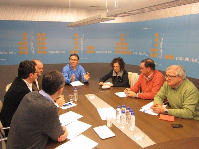 Reunión de Castellano con los vicesecretarios del PPCV y Font de Mora