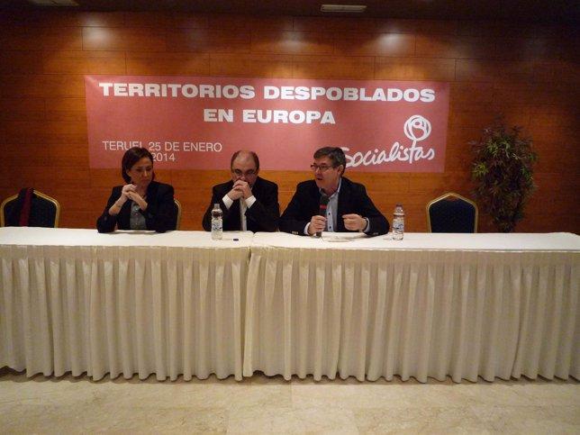 Javier Lambán asiste en Teruel a una Jornada sobre Territorios Despoblados.