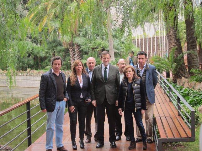 A.Sánchez Camacho (PP), M.Rajoy, S.S.Santamaría y J.M. Soria