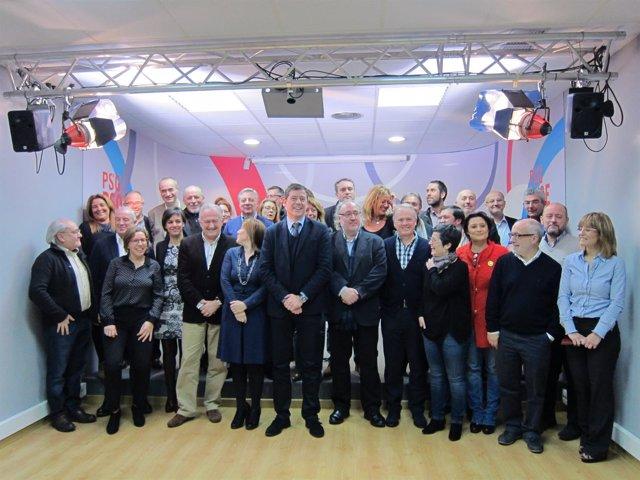Reunión de los parlamentarios del PSdeG en Santiago