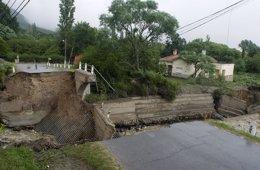 Daños causados por las lluvias torrenciales en Catamarca