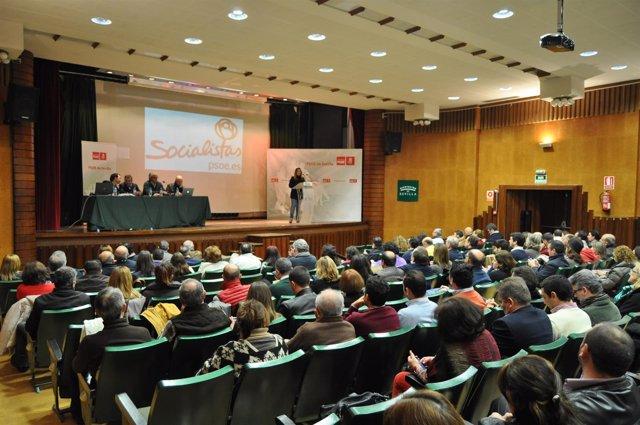Acto del PSOE de Sevilla