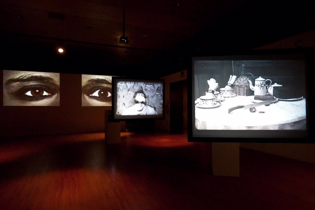 La exposición 'La imagen proyectada' .