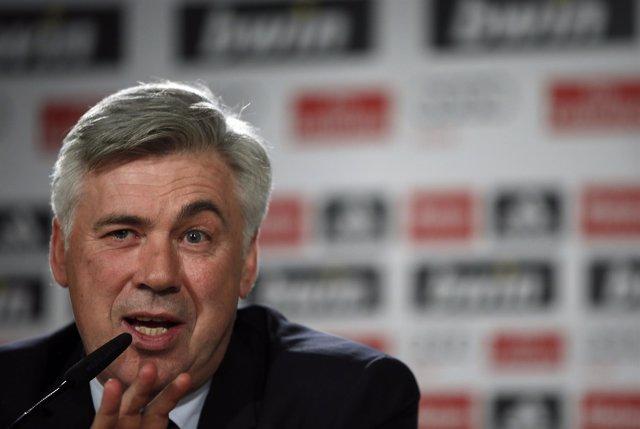 Carlo Ancelotti en rueda de prensa