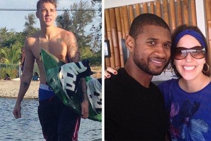 Usher y la madre de Justin Bieber, Pattie Mallette, de viaje en Panamá para llevar por el buen camino al cantante