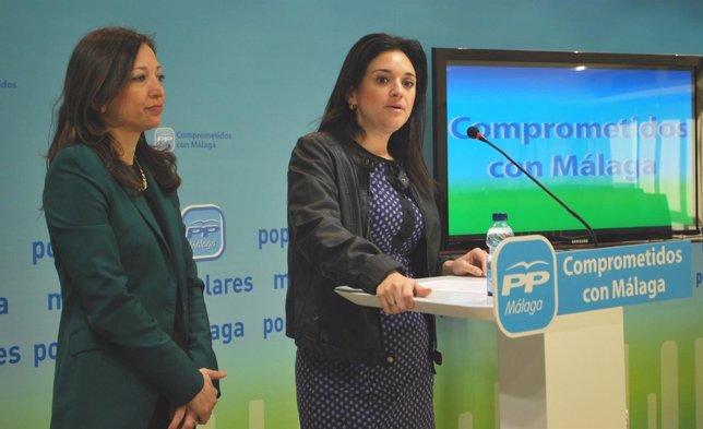 Del Cid y Navarro en la sede del PP