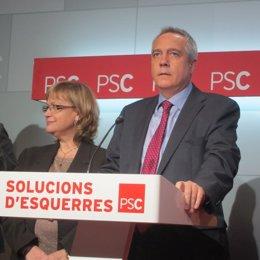 Pere Navarro i Esperança Esteve (PSC)