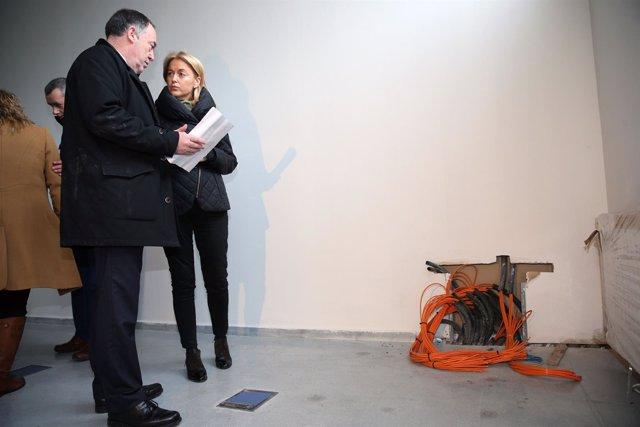 Cristina Coto en el Centro Tecnologico de la Madera en Siero
