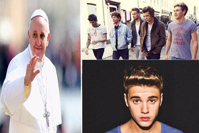EL Papa Francisco entre los más famosos