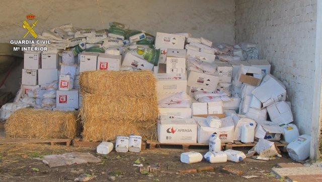 Productos fitosanitarios intervenidos