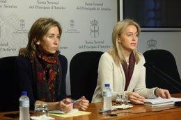 Las diputadas de Foro Esther Landa y Cristina Coto
