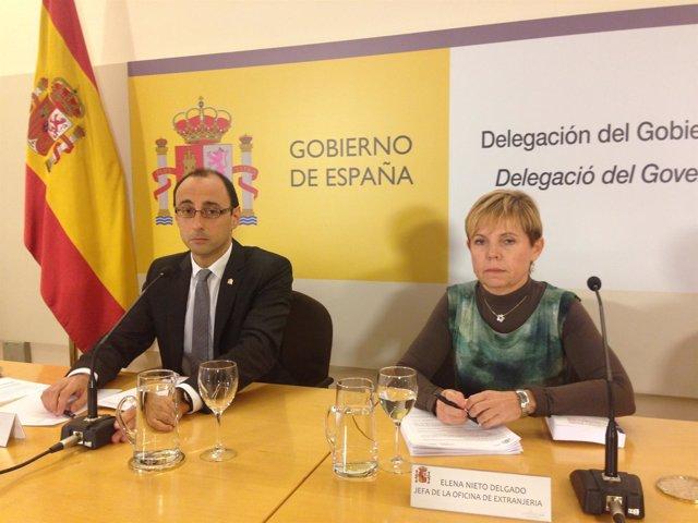 Subdelegado del Gobierno E.Ablanedo y Elena Nieto