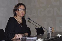 La portavoz de Educación del PSOE-Aragón, Mayte Pérez.