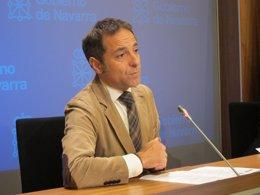 El consejero portavoz del Gobierno de Navarra, Juan Luis Sánchez de Muniáin