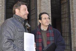 José Luis Soro y Miguel Martínez Tomey, de la Fundación Gaspar Torrente.