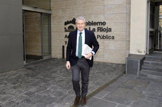 El portavoz del Gobierno de La Rioja, Emilio del Río