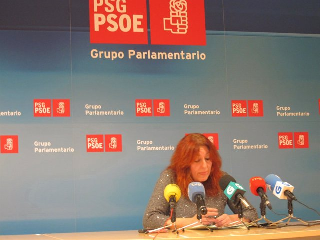 Rueda de prensa de la diputada del PSdeG Carmen Acuña