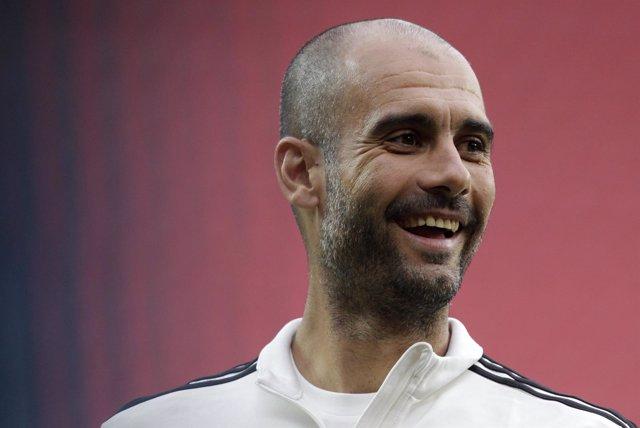 El entrenador del Bayern de Múnich, Josep Guardiola