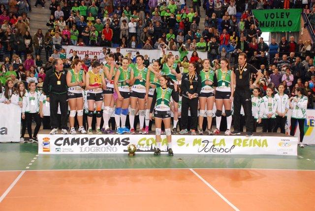 Embalajes Blanco Tramek Murillo Copa de la Reina voleibol