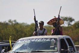 Miembros de los grupos de Autodefensa del estado mexicano de Michoacán.
