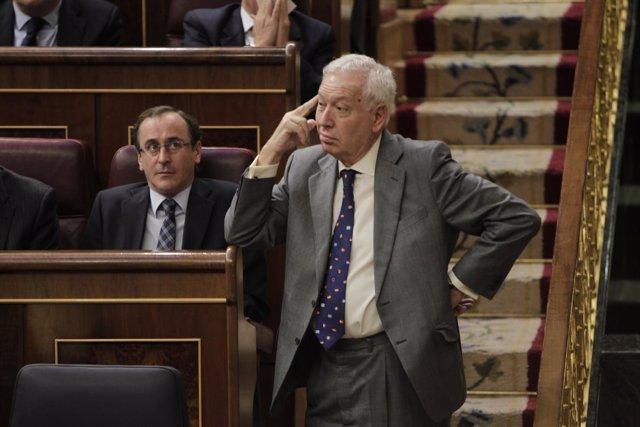 José Manuel García Margallo, ministro de Exteriores, en el hemiciclo