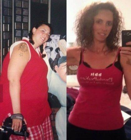 Una mujer logra perder 65 kilos con entrenamiento militar