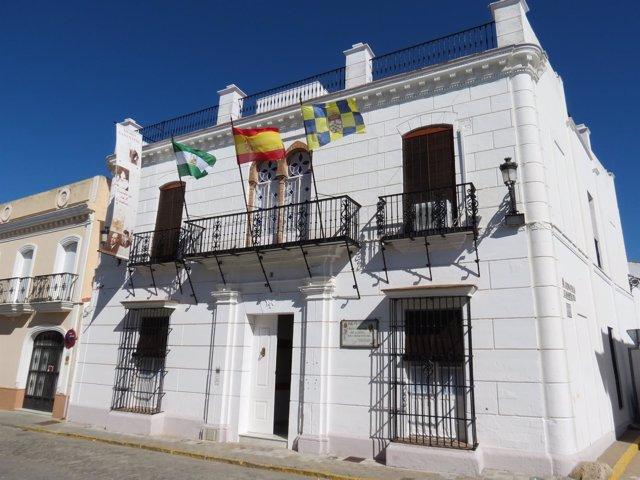 Casa natal de Juan Ramón Jiménez en Moguer (Huelva).