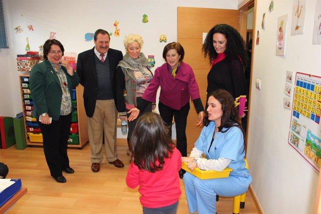 La consejera de Salud, María José Sánchez Rubio, en Huelva.