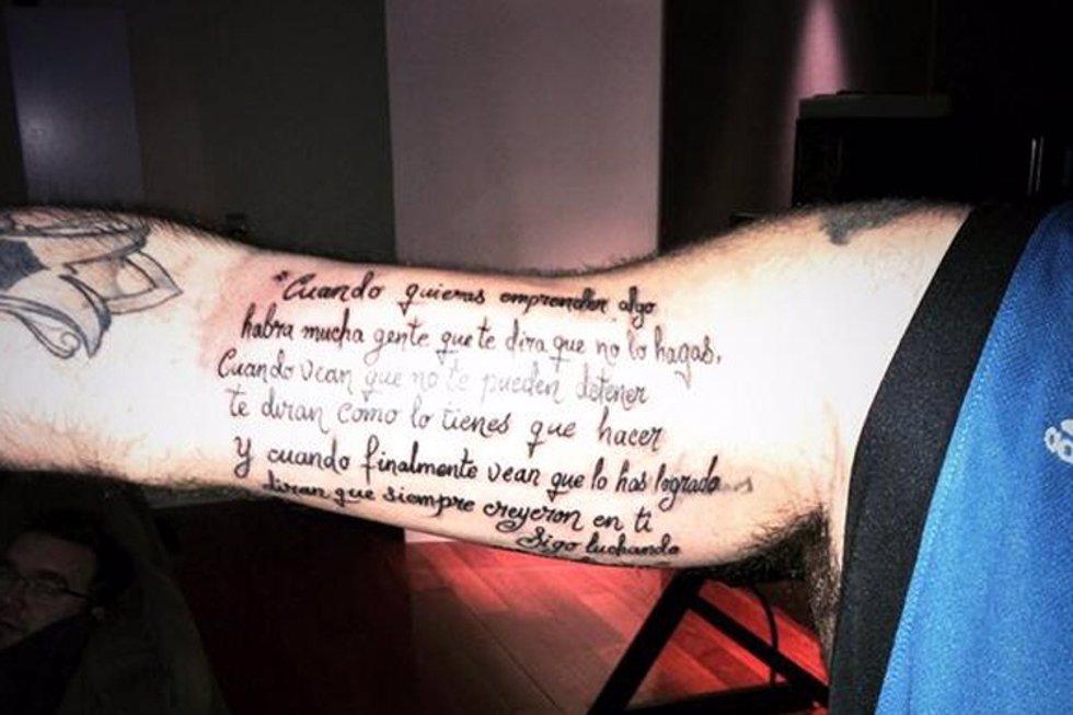El tatuaje de la polémica