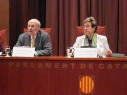 Alfons Conesa (dtor ACC) y la diputada Dolors Montserrat