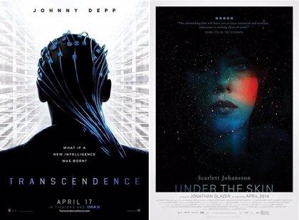 Johnny Depp y Scarlett Johansson, trascendentes y alienígenas