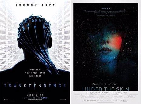 Johnny Depp y Scarlett Johansson en sus nuevos pósters