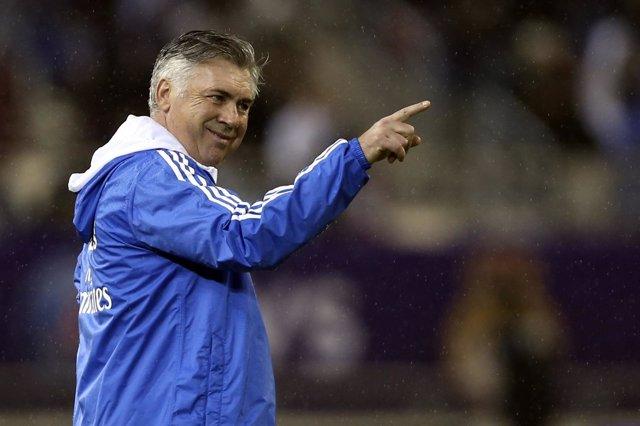 Carlo Ancelotti dirige al equipo merengue