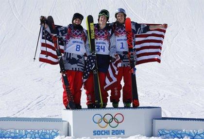 EEUU copa el podio de la prueba del 'slopestyle' del esquí acrobático masculino