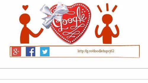 Google te envía bombones para celebrar San Valentín con su 'doodle' más romántic