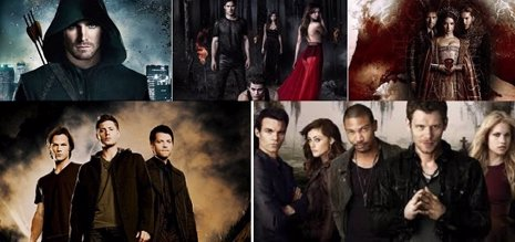 'Arrow', 'Reign', 'The Originals', 'The Vampire Diaries' Y 'Supernatural'