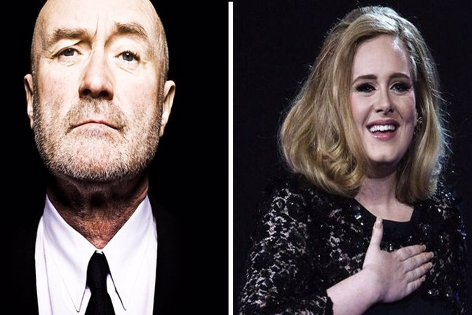 Phill Collins y Adele crearán una canción