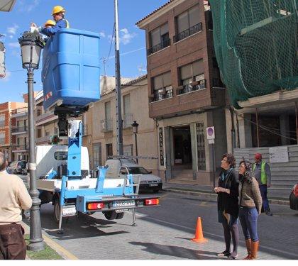 Las obras de renovación de alumbrado público en Puerto Lumbreras permitirán reducir en un 55% el consumo anual