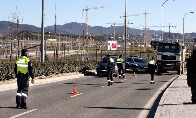 Control de la Policía Municipal de Pamplona