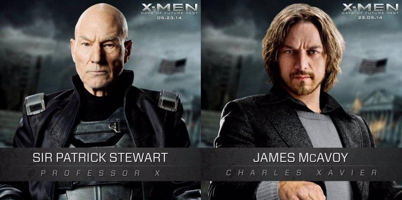 X-Men Days of Future Past: Stewart y McAvoy, las dos caras del profesor Xavier