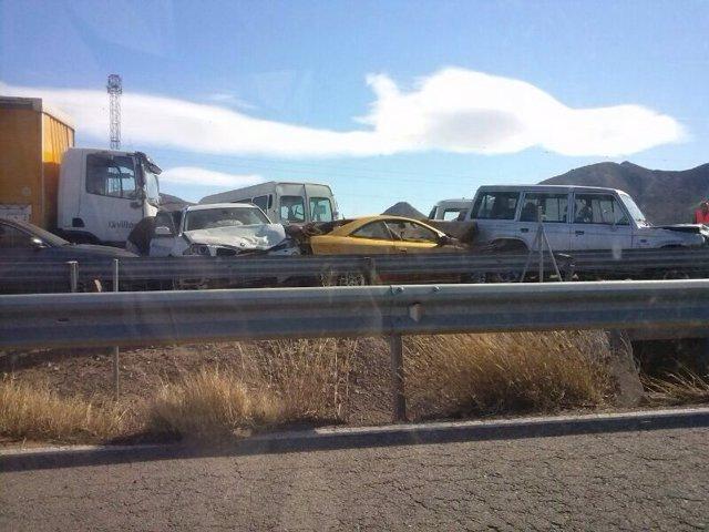 Vehículos implicados en accidente