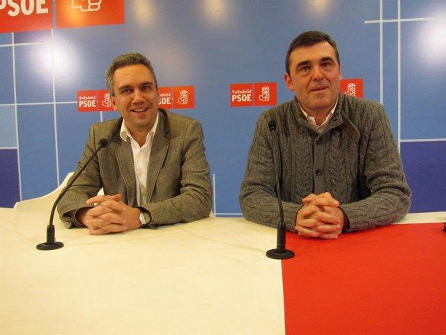 Javier Izquierdo y Ricardo Cortés, tras entrevistarse con las ONG de CyL.
