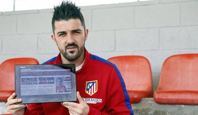 David Villa Atlético Madrid