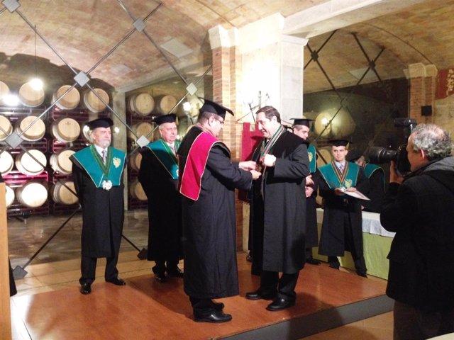 Pelegrí nombrado miembro de honor de la Acad.Tastavins Penedès